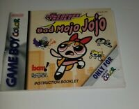 The PowerPuff Girls: Bad Mojo Jojo Nintendo Gameboy Color MANUAL ONLY