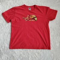 The North Face Mens T-Shirt Red Size Large L Graphic Tee Logo