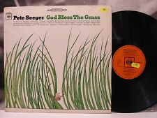 PETE SEEGER - GOD BLESS THE GRASS LP EX-/EX- 1st GERMAN PRESSING 1966 CBS 62618