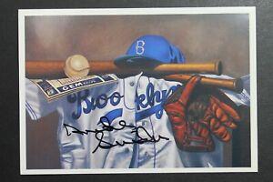 Duke Snider (d.2011) Brooklyn Dodgers Signed Autographed 3x5 Flatbush Postcard
