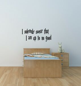 I solemnly swear that I am up to no good harry potter wall art sticker