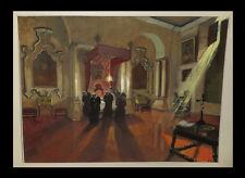 DUMESNIL (Robert) - [Grande aquarelle avec rehauts de gouache]. 1/2.