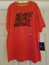 Nike Football Red - Coral Boys Medium t-shirt New with Tags NWT