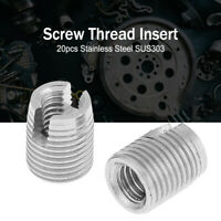 SELF TAPPING THREADED INSERTS STAINLESS STEEL SLOTTED INSERTS M3 M5 SUS303 20pcs