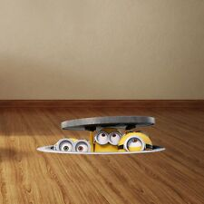 3D Sewer Minions Wall Stickers For Kids Rooms Removable PVC Home Decor 20x60cm