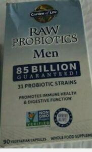 Garden of Life RAW Probiotics 85 Billion CFU 90 Veg Caps (Men) exp date 2022