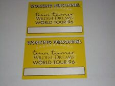 Tina Turner 2 Unused 1996 Concert Working Ticket Passes pass Wild Dreams Tour v