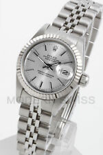 Rolex Ladies Datejust Steel Silver Index & Gold Fluted Jubilee Oyster Perpetual