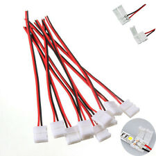 10Pcs LED Strip Connector PCB Cable 2 Pin 5050 Single Color Useful Adapter DH36