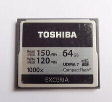 64GB Toshiba Exceria 1000X CompactFlash CF Memory Card 150MB/S UDMA7 Camear DSLR