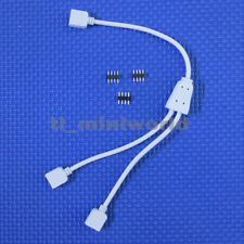 3x male female 4p 1 to 2 Ports connector splitter cable for 3528 5050 RGB led w