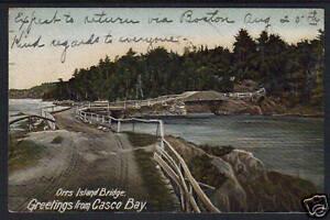 1906 CASCO BAY ORRS ISLAND PORTLAND ME UDB POSTCARD
