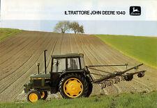 "PUBBLICITA' WERBUNG "" IL TRATTORE JOHN DEERE 1040 """