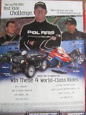 "2005 Polaris Ad-8.5 x 10.5""ATV-RANGER-Ryan Newman-Dale Earnhardt Jr.-Kyle Petty"