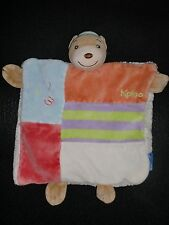 doudou plat ours 123 rouge orange blanc KALOO