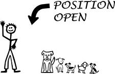 """Back window family stick figure decal """"Position Open""""  Add to your current decal"""