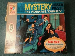 1965 Milton Bradley The Addams Family Mystery Jigsaw Puzzle No. 4581 Complete