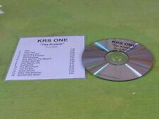 KRS ONE - THA KRSTYLE !!!!!!!!!!!!ROUGH MIXES!!!!!!!!!!!!!!! PROMO CD!!!!!!!