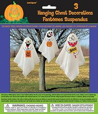 Hanging Decoration Ghost 3pk Halloween Party Supplies Ceiling Props Spooky Scary