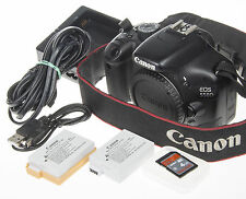 Canon EOS Rebel 550D / T2i DSLR Camera +2x batt. +USB cabl +4Gb SD +Extended FW