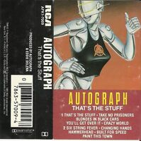 "That's the Stuff by Autograph (Cassette, 1985 RCA) Includes: ""Six String Fever"""