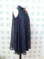 Vintage Original 1960s John Bates Jean Varon Twiggy shift mod lace mini dress