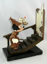 DISNEY BRONZE ART - CASE OF THE MISSING FOOTPRINTS MICKEY MOUSE - BY BILL TOMA
