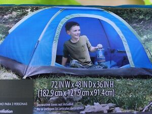 Kids 2 Person Dome Camping Tent, Backpack, Sleep over Bbackyard Camp 6'x4'