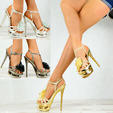 N29 Designer LACK Damenschuhe Party METALLIC Glitzer Pumps High Heels Club SeXy