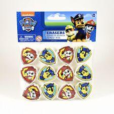 12 Eraser Paw Patrol Birthday Party Supplies Goody Bag Loot Prize School Supply