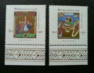 [SJ] Germany Christmas 1996 Festival Religious Art Culture (stamp margin) MNH
