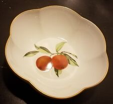 "Royal Worcester EVESHAM Melon Bowl, 6 5/8"", Gold trim, England, Excellent"