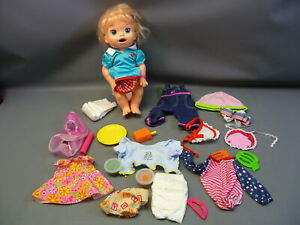 2014 Hasbro Baby Alive Doll (Blonde Hair) w/ Clothing & Accessories