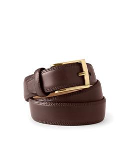 Lands'End Men's Glove Leather Belt Brown Size 32 Style #472993 J