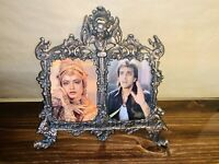 Antique Double Ornate Brass Frames - Victorian Style