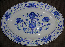 "villeroy &Boch Dresden Saxony Blue Poppy Art Deco Jugendstil 14"" Platter M508 A5"