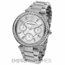 Michael Kors Stainless Steel Case Silver Strap Wristwatches