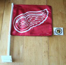 Detroit Red Wings Window Flag NHL Hockey Banner Sock Stanley Cup Team NWT
