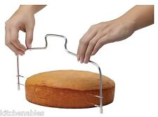 """Mrs Andersons 13"""" Adjustable Double Stainless Steel Wire Cake Slicer Leveler"""