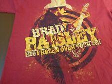 2011 Brad Paisley Concert T Shirt Medium H2O Frozen Over Tour N14