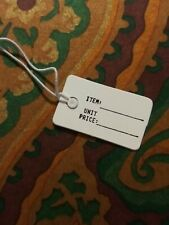 100 pieces White Label Jewelry Merchandise Price Tags
