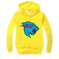 Children's Hoodie Boys' Long Sleeve T-shirt Sport Shirt Mr Beast Tops Sweatshirt