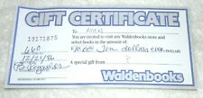 1986 Expired Waldenbooks $10 gift Certificate NO CASH VALUE For Collectors Only