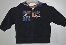 babyGAP Size 3-6 Months Boys Black Front Zipper Hoody Jacket