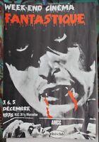 Affiche Originale ✤ Week-end CINÉMA FANTASTIQUE ✤ Chambéry 1976