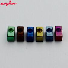 6 Piece Guyker String Lock Insert Block Rainbow Color Titanium Alloy For FR