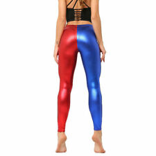 Super Sexy Leggings Wet Look Trouser Faux Leather Shiny Slim Pants Deluxe Outfit