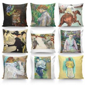 Painting By Henri de Toulouse-Lautrec High Quality Silk Pillowcase Cushion Cover