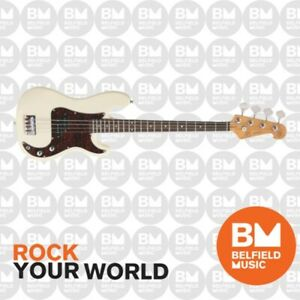 SX Bass Guitar Short Scale 3/4 Size 30inch Vintage White - VEP34VWH - Brand New