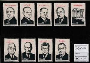 America / USA postfris 1986 MNH 1826-1834 - Presidents of the United States